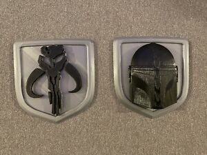 Custom Dodge Ram Mandalorian mythosaur Truck Tailgate Emblems Also Ford Chevy