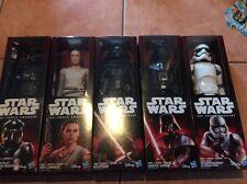 Star Wars The Force Awakens - SET OF FIVE 12 Inch Figures REY DARTH VADER KYLO *