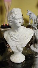 Büste Apollo Deko Figur Stuckgips Dekoration Kopf Säule Statue Auf Alt Crem 2341