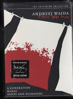 Andrzej Wajda War Trilogy (DVD, 2005, 3-Disc Set, Criterion Collection) NEW