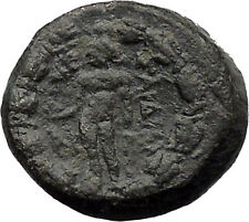 Sardes Asia Minor 133BC Ancient Greek Coin Nude Apollo Young Hercules  i31309