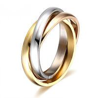 Clásico Anillos de compromiso Mujeres Anillo acero inoxidable boda joyería
