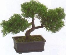 "9"" ARTIFICIAL CEDAR BONSAI TREE TOPIARY IN OUTDOOR PLANT ARRANGEMENT CYPRESS POT"