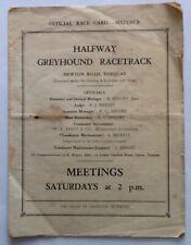 1940s/50s TORQUAY HALFWAY GREYHOUND RACING RACECARD (Newton Abbot, Torbay Devon)
