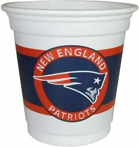 NFL New England Patriots Mini Cups Jello Shots 3oz 18 Ct. Officially Licensed