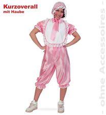 Fasching Baby Kostüm Overall mit Haube für Erwachsene rosa Gr. S NEU