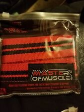 Master Of Muscle Powerlifting Straps Set Of 2 Each 24 Inches Long