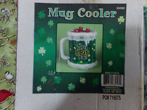 St. Patrick's Green Inflatable Mug Cooler One Size