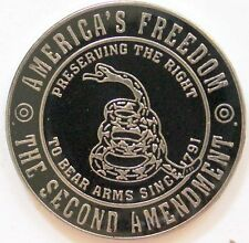 2nd Amendment Pin Americas Freedom Dont Tread on Me Gadsen Hat Lapel Tie Tack