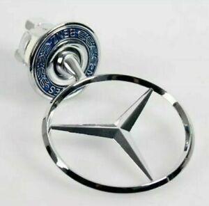 Star Emblem Badge 44mm Logo Bonnet Hood Standing For Mercedes Benz A2108800186