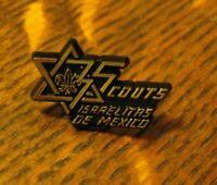 Scouts Israelitas De Mexico Lapel Pin - Vintage Mexican Jewish Scouting Badge