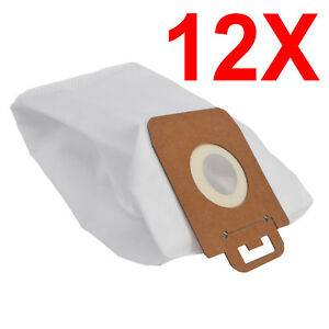 12X Synthetic Vacuum Cleaner Bags For Nilfisk Power Select Series 107407639 New