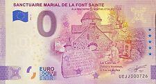 BILLET 0  EURO SANCTUAIRE MARIAL DE LA FONT SAINTE  FRANCE  2021 N° DIVERS