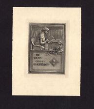 EXLIBRIS,094b - Heinrich Kautsch - Lesende