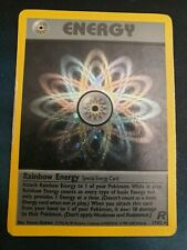 Rainbow Energy Holo Rare Pokemon Card - 17/82 Team Rocket - Played