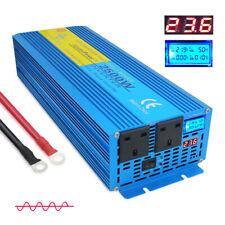 2500W 5000W pure sine wave power inverter DC 24v to AC 230v truck converter trip
