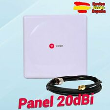 🔥 Antena WiFi Panel 20dBi Exterior con cable Pigtail 10 metros N a RP SMA Macho