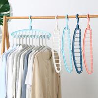 Clothes Multi-functional Hanger Space Saving Folding Hook Rack Hangers random DH