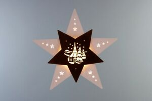 Window Picture Seiffener Church Height Approx 29 CM New Christmas Star