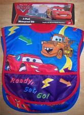 NEW 2 Pack  DISNEY CARS POCKET BIBS, LIGHTNING MCQUEEN, MATER
