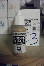modello Hobby Pittura 17ml BOTTIGLIA val843 AV Vallejo Color - SUGHERO MARRONE