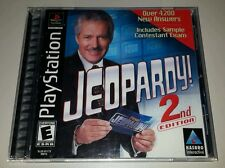 Jeopardy! 2nd Edition Playstation 1 2 PS1 PS2 Complete Black Label Near MINT