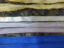 lot==8,m galons et rubans ,bleu roi et gris