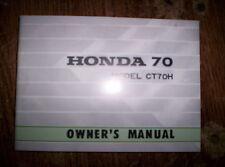 honda ct70-ct70hk0 owners manual 1970-1971 models