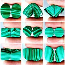Malachite Natural Matched Pair Oval Pear Fancy Cushion Cab Loose Gemstones PK82