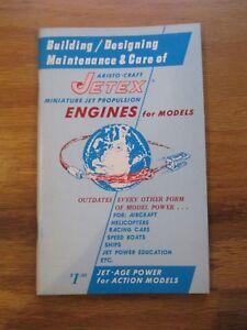 Vintage model Airplane JETEX ENGINE BOOK CATALOG PLANS INSTRUCTIONS