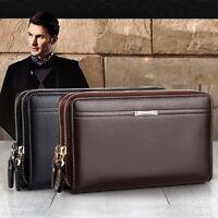 New Men's Leather Business Clutch Bag Handbag Wallet Purse Mobile Phone Bag HOT