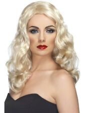 Blonde Glamorous Wig Long and Wavy Adult Womens Smiffys Fancy Dress Costume