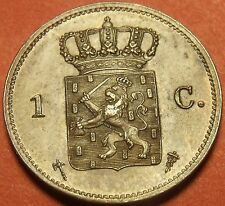 Netherlands 1877 Cent Unc~Over 135 Years Old~Free Shipping