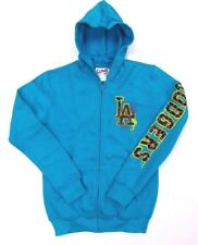 LA Dodgers Sweatshirt Hoodie Girls Blue Youth Fleece Full Zipper MLB