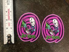 2 Jeff Grosso skateboard Stickers Black Label Santa Cruz Jester Ragdoll Lucero