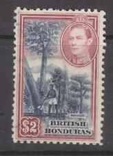 BRITISH HONDURAS, 1938 KGVI $ 2.00 Mahogany Tree Felling, used.