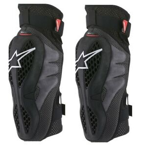 Alpinestars Adult Sequence Knee Protectors Black/Red S-2XL