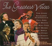 COFFRET 3 CD COMPIL 43 TITRES--THE GREATEST VOICES--JONES/MARTIN/COLE/NEWTON...