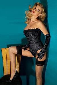 NEW FREDERICKS OF HOLLYWOOD $62 BLACK DREAM CORSET SZ 40