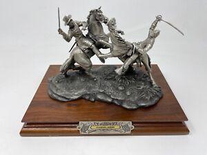 Chilmark Civil War Sculpture by F Barnum 1994, Clashing Sabers 7497, 119/500