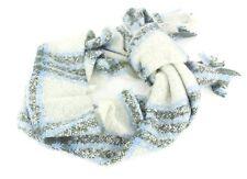 Esprit Châle EDC Brossé vérifié écharpe blanc cassé