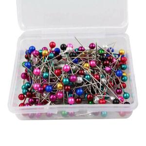 Dressmaking Pins Sewing 200 PCs Round Pearl Head Pins Wedding Decorating Crafts