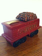 "New listing Vintage B Harness McCormick Red Jupiter Train Coal Car Decanter 4+"" tall 8x4"""
