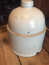 Antique Primitive Stoneware Crock Chicken Feeder / Waterer Top