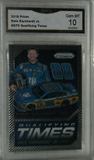 2016 PANINI PRIZM DALE EARNHARDT JR QUALIFYING TIMES CARD#QT6 GEM MT 10 NICE