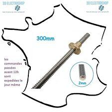 vis de précision 8mm avec ecrou laiton pour axe Z THSL-300-8d pas de 2mm