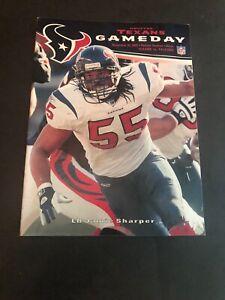 Nov 30, 2003 Atlanta Falcons @ Houston Texans Gameday Program! Jamie Sharper