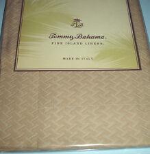 Tommy Bahama Bengal Pique Boudoir Pillow Sham Egyptian Cotton Beige Italy New