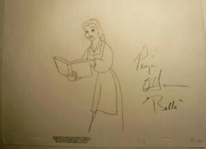 Walt Disney Original Production Drawing Belle Beauty And The Beast