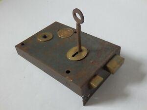 Reclaimed Vintage Lockerbie & Wilkinson Rim Lock Latch & Key (No Keep) #1618